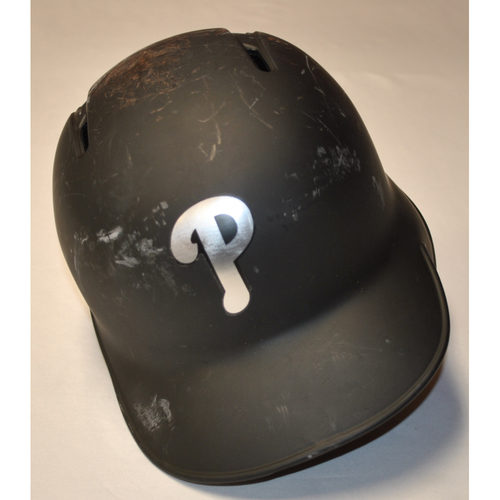 "Photo of Maikel ""COMPA F"" Franco Philadelphia Phillies Game-Used 2019 Players' Weekend Helmet"