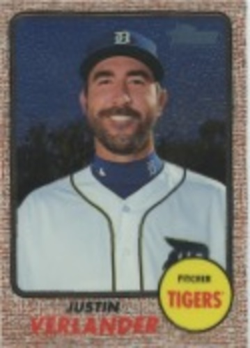 Photo of 2017 Topps Heritage Chrome #THC417 Justin Verlander
