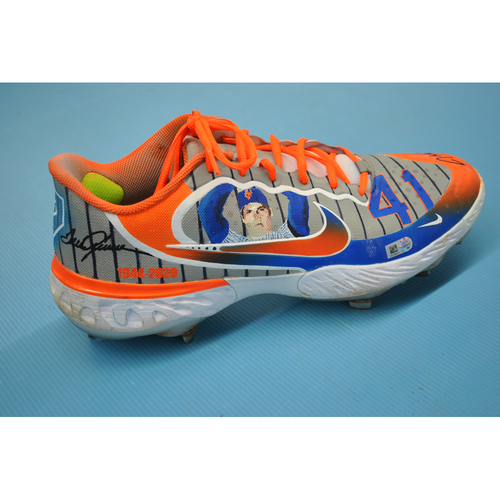 More than Baseball: Game-Used and Autographed Cleats - New York Mets at Washington Nationals - 9/26/20 Game 1 - Jacob deGrom