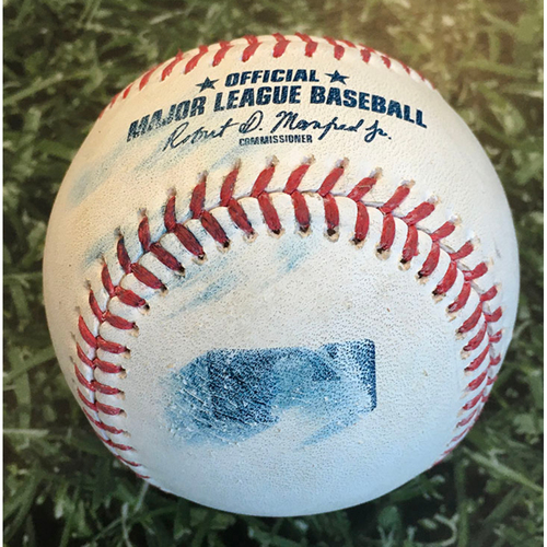 Photo of Game-Used Baseball DET@MIL 09/01/20 - Phil Bickford - Grayson Greiner: Foul (Bickford MLB Debut Game)
