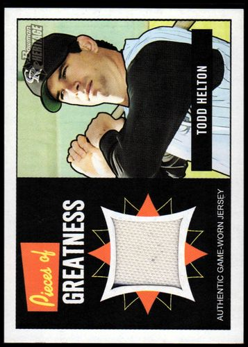 Photo of 2005 Bowman Heritage Pieces of Greatness Relics #TH Todd Helton Jsy B