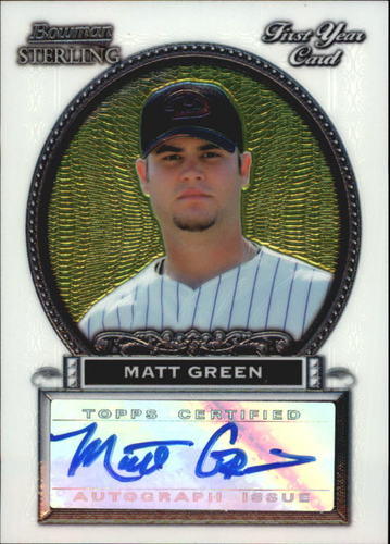 Photo of 2005 Bowman Sterling #MG Matt Green AU A RC