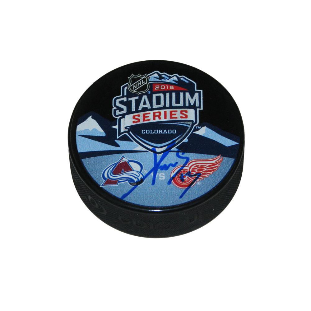 PAVEL DATSYUK Signed Stadium Series 2016 Detroit Red Wings Puck