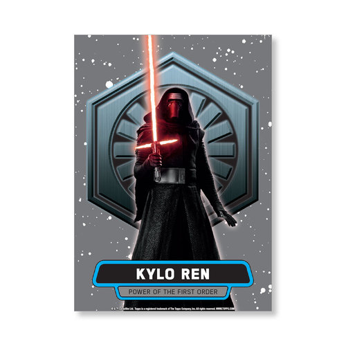 Kylo Ren 2016 Star Wars The Force Awakens Chrome Metal Poster - # to 99