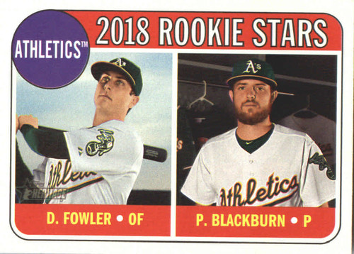 Photo of 2018 Topps Heritage #358 Dustin Fowler RC/Paul Blackburn RC
