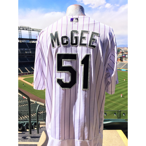 Photo of Colorado Rockies Jake McGee Game-Used Jersey