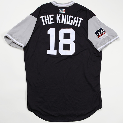 "Photo of Didi ""The Knight"" Gregorius New York Yankees Team Issued Jersey 2018 Players' Weekend Jersey"