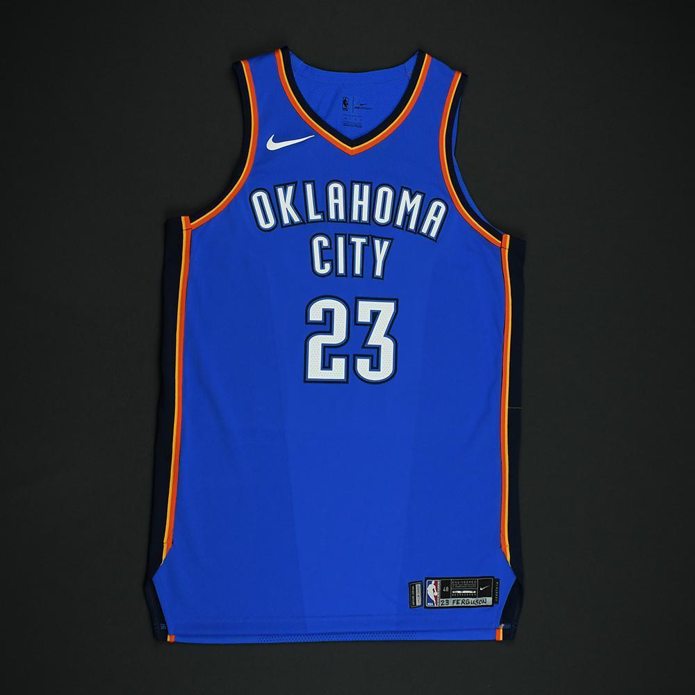 Terrance Ferguson - Oklahoma City Thunder - Game-Worn Rookie Debut Jersey (Opening  Night 987b211cb