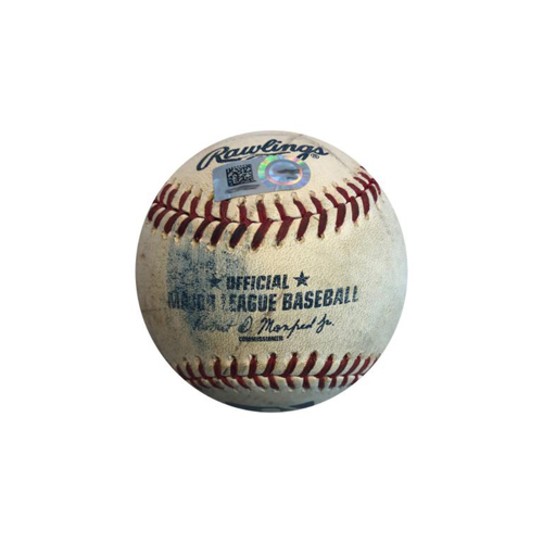 Photo of Game-used Baseball: 7/8/2015 Brandon Maurer vs. Andrew McCutchen, Single