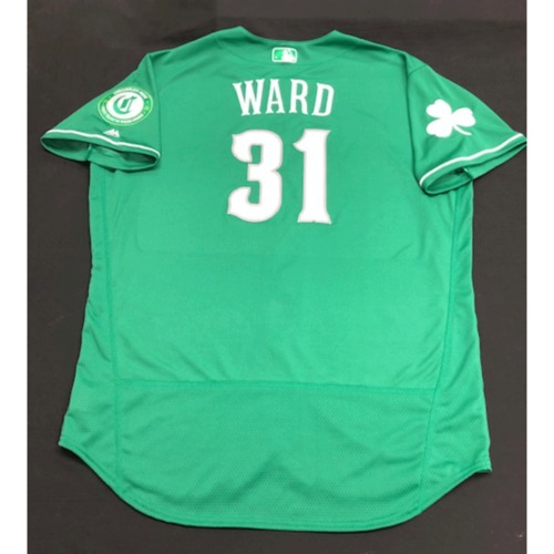 Photo of Turner Ward -- Game-Used Jersey -- 2019 St. Patrick's Day