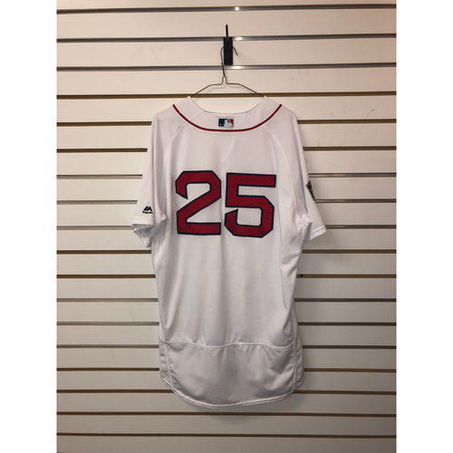 Photo of Steve Pearce Team-Issued 2018 Home World Series Jersey
