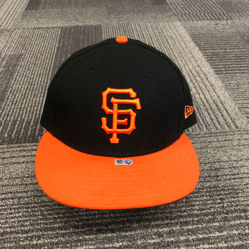 Photo of 2018 Game Used Orange Bill Cap worn by #45 Derek Holland - Size 7 3/8