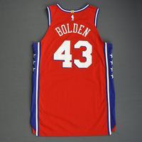 Jonah Bolden - Philadelphia 76ers - 2018-19 Season - China Games - Game-Worn Red Statement Edition Jersey