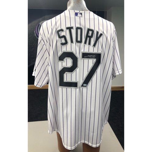 Photo of Colorado Rockies Trevor Story Autographed Jersey: Home White