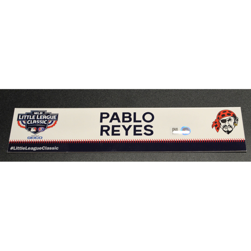 Photo of 2019 Little League Classic - Game Used Locker Tag - Pablo Reyes,  Chicago Cubs at Pittsburgh Pirates - 8/18/2019