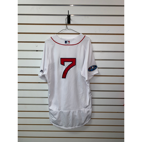 Photo of Christian Vazquez Game Used September 29, 2018 Home Jersey