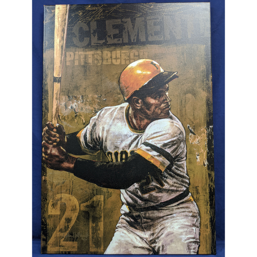 Photo of Roberto Clemente Giclée Canvas by Stephen Holland
