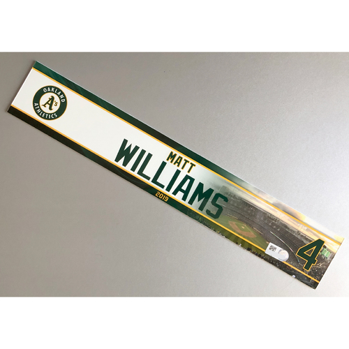 Photo of Team-Issued Matt Williams 2019 Locker Nameplate