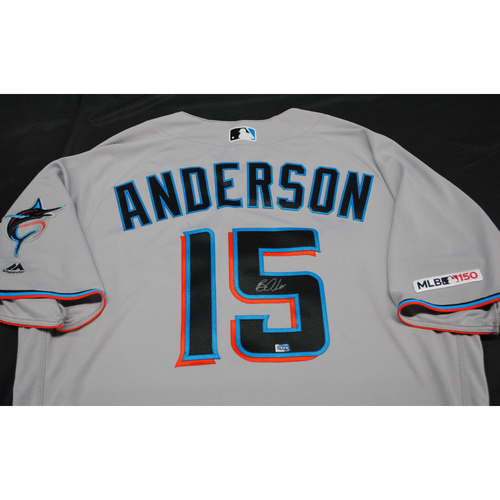 Photo of Autographed Grey Jersey: Brian Anderson #15 - Size 48