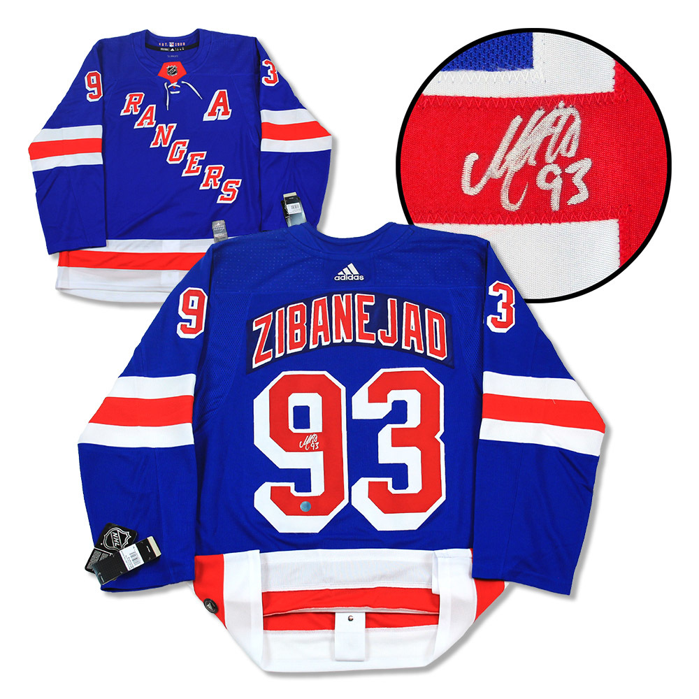Mika Zibanejad New York Rangers Autographed Adidas Authentic Hockey Jersey