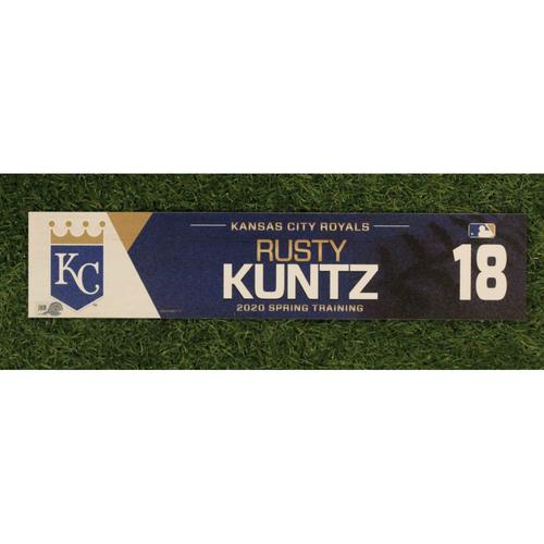 Game-Used Spring Training Locker Tag: Rusty Kuntz #18
