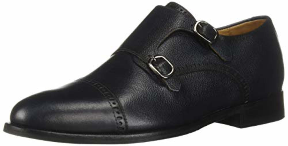Photo of Marc Joseph New York Men's Oxford's Leather Double Monk Wingtip Dress Shoe