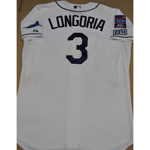 Photo of Game-Used Jersey - Japan All-Star Series 2014 - Tampa Bay Jersey - 11/15/2014, 11/18/2014 - Evan Longoria