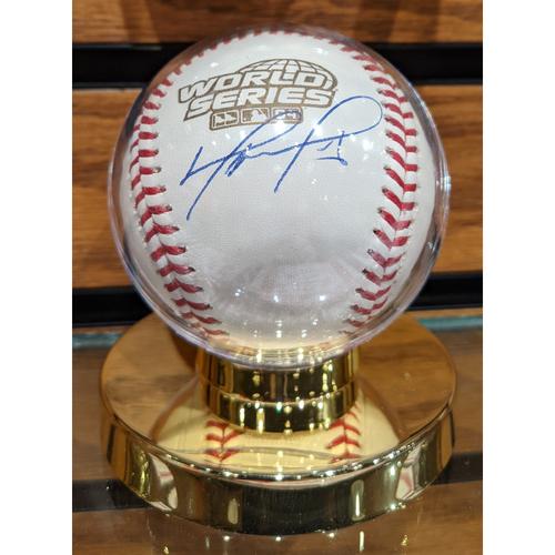 Photo of David Ortiz Autographed 2004 World Series Baseball