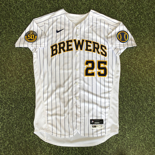 Photo of Brett Anderson 2020 Team-Issued Home Pinstripe Jersey