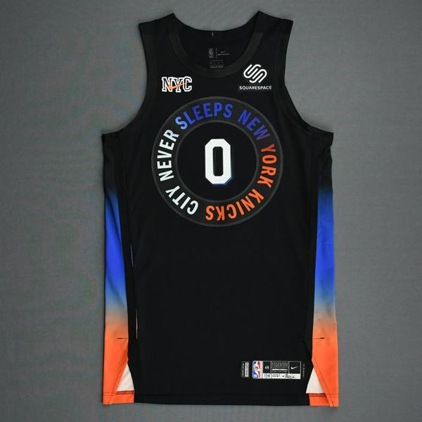 Image of Jared Harper - New York Knicks - Game-Worn City Edition Jersey - Dressed, Did Not Play (DNP) - 2020-21 NBA Season