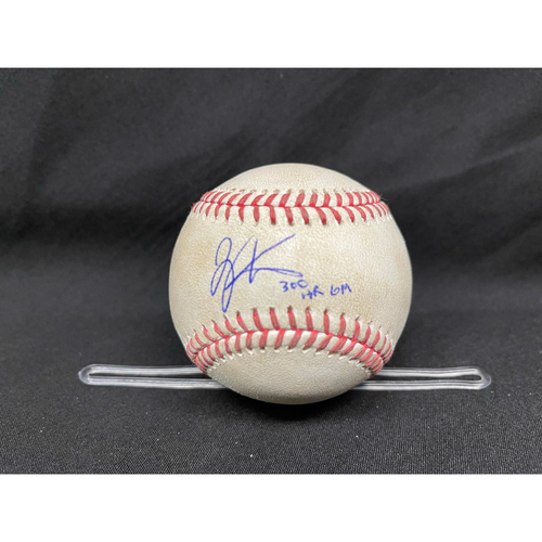 Photo of Joey Votto *Game-Used, Autographed & Inscribed* Baseball from 300th Career HR Game - Wade Miley to Javier Baez (Foul) -- 04/30/2021 - CHC vs. CIN - Top 3