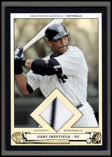 Photo of 2005 Origins Materials Jersey #GS Gary Sheffield