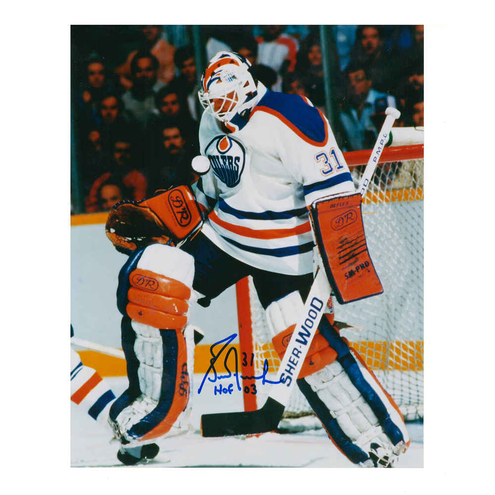 GRANT FUHR Signed Edmonton Oilers 8 X 10 Photo - 70234
