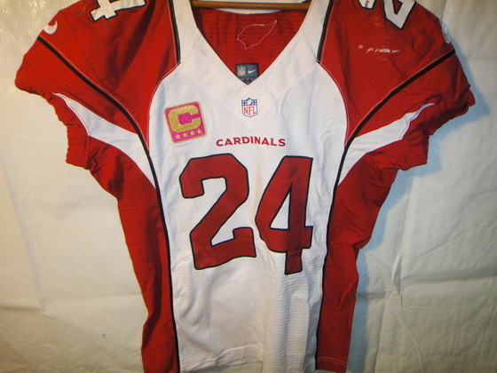 huge discount d276e cfcdf NFL Auction | CARDINALS ADRIAN WILSON GAME WORN SIGNED ...