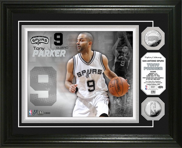 0762e0c06036 Serial  1! Tony Parker Silver Coin Photo Mint
