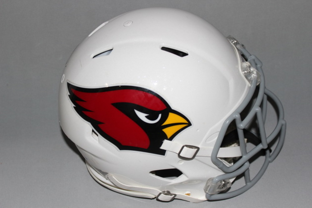 CARDINALS - CHRIS HUBERT GAME WORN CARDINALS HELMET (2016)