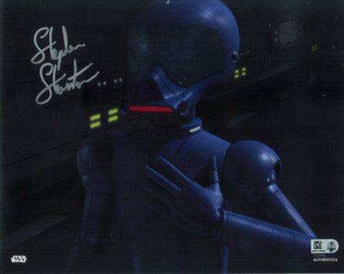 Stephen Stanton as AP-5 8x10 Autographed in Silver Ink Photo