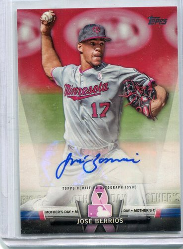 Photo of 2018 Topps Salute Autographs #SAJBR Jose Berrios