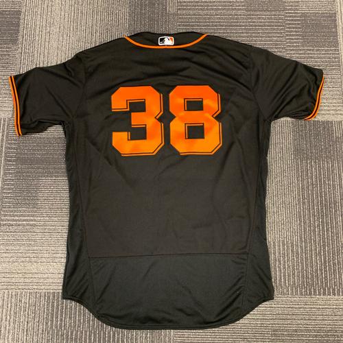 Photo of 2018 Team Issued Alt Black Home Jersey - #38 Tyler Beede - Size 48