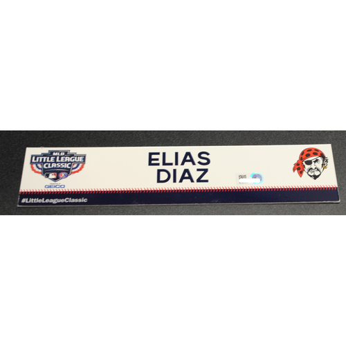 Photo of 2019 Little League Classic - Game Used Locker Tag - Elias Diaz,  Chicago Cubs at Pittsburgh Pirates - 8/18/2019