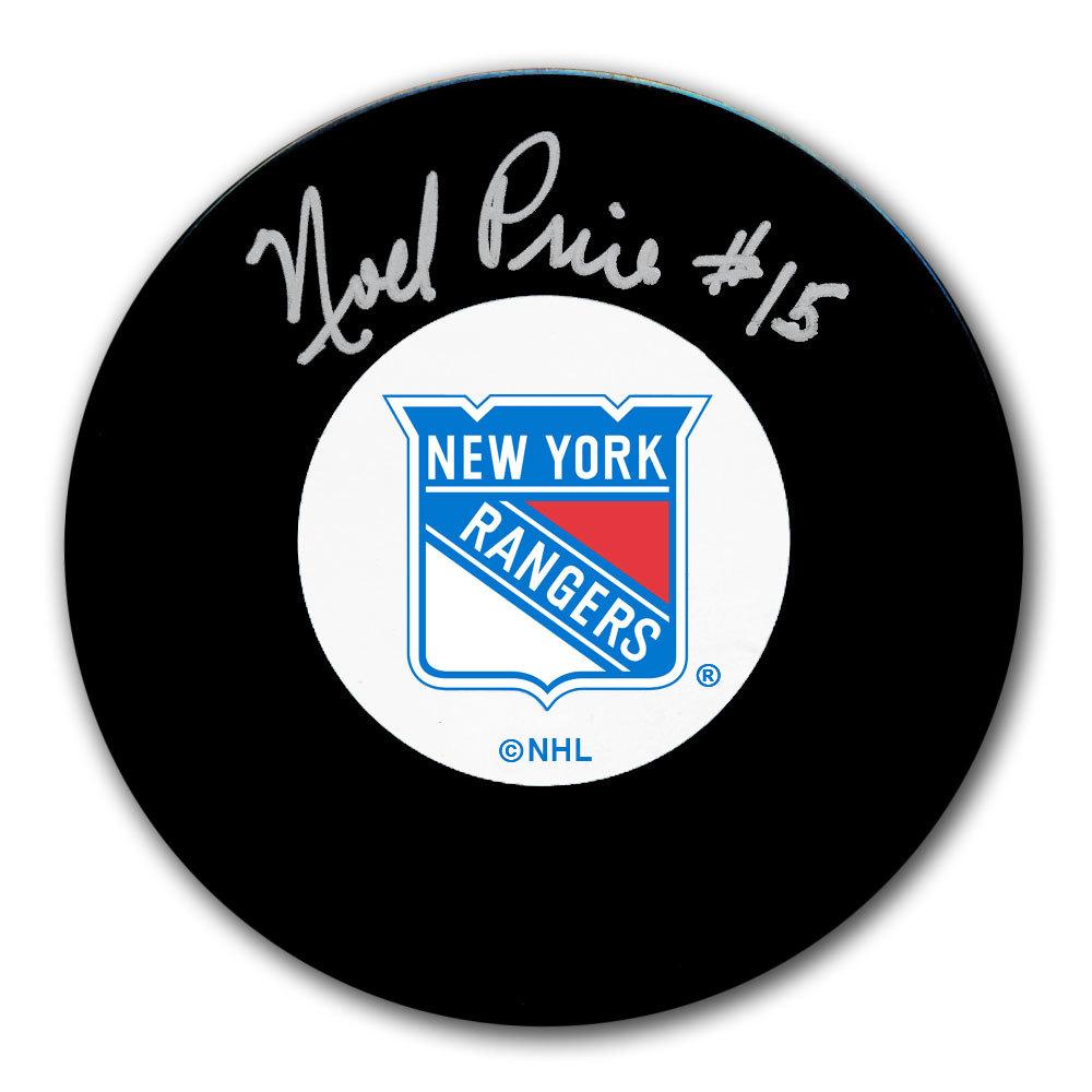 Noel Price New York Rangers Autographed Puck