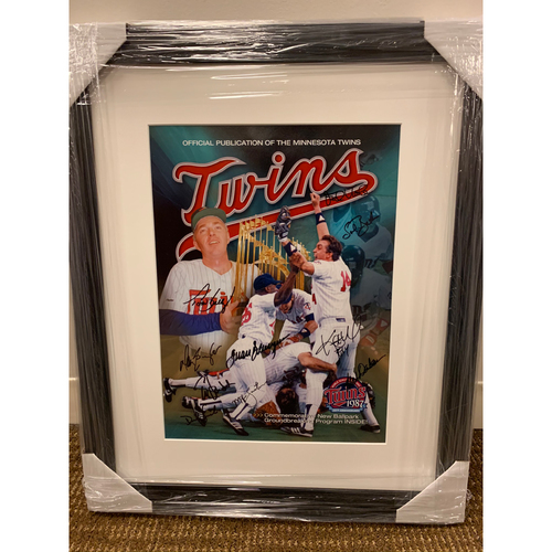 Photo of Framed 1987 World Series Reunion Poster
