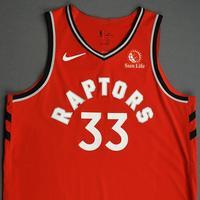 Marc Gasol - Toronto Raptors - Game-Worn Icon Edition Jersey - NBA Japan Games - 2019-20 NBA Season