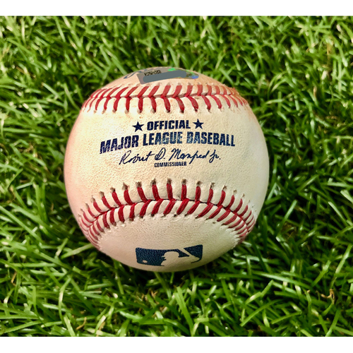 Photo of Game Used Baseball: Shohei Ohtani single and Albert Pujols ball-in-dirt against Diego Castillo - June 16, 2019 v LAA