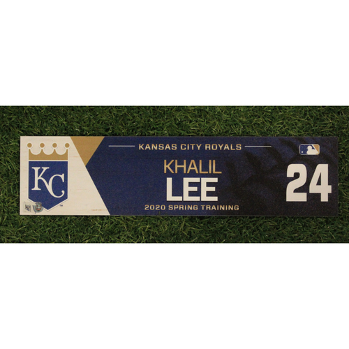 Photo of Game-Used Spring Training Locker Tag: Khalil Lee #24