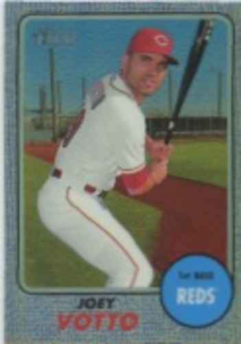 Photo of 2017 Topps Heritage Chrome Purple Refractors #THC431 Joey Votto