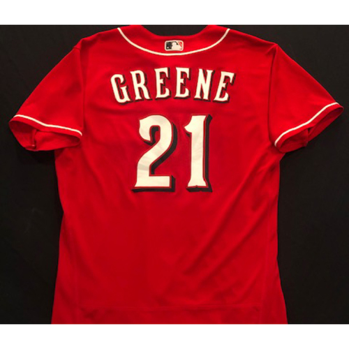 Photo of Hunter Greene -- 2020 Spring Training Jersey -- Team-Issued -- Size 46