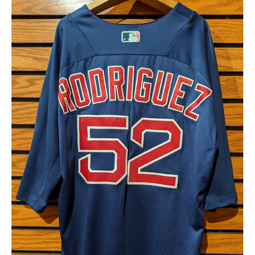 Photo of Eduardo Rodriguez #52 Team Issued Blue Batting Practice Jersey
