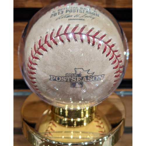 Photo of 2013 ALCS Game 1 October 12, 2013 Red Sox vs. Tigers Game Used Baseball