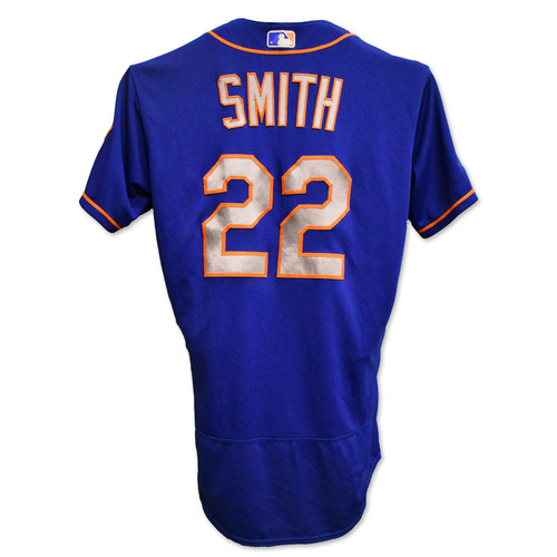 Photo of Dominic Smith #22 - Team Issued Blue Alt. Road Jersey - 2019 Season
